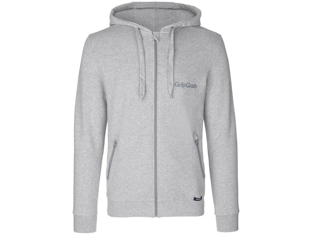 GripGrab Icon LS Organic Cotton Zipper Hoodie grey